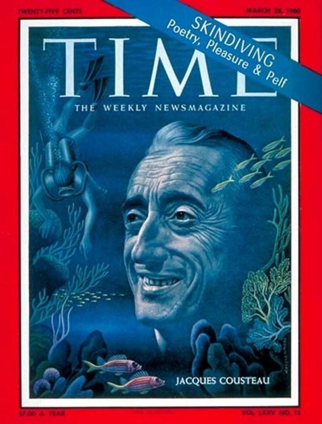 Jacques Cousteau on Time 1960