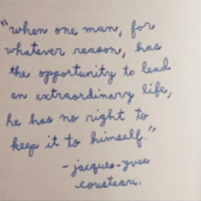 Jacques Cousteau quote 2