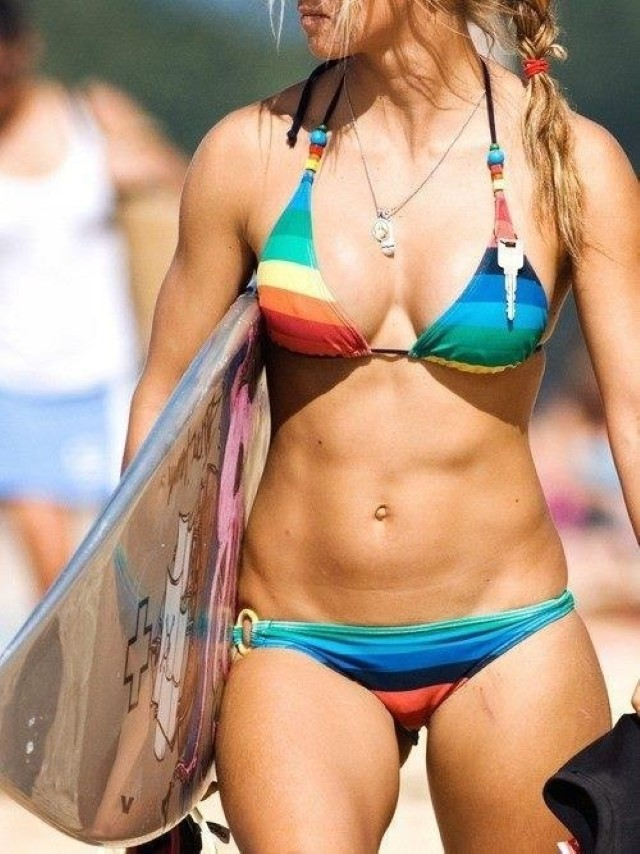 fit surfer girl