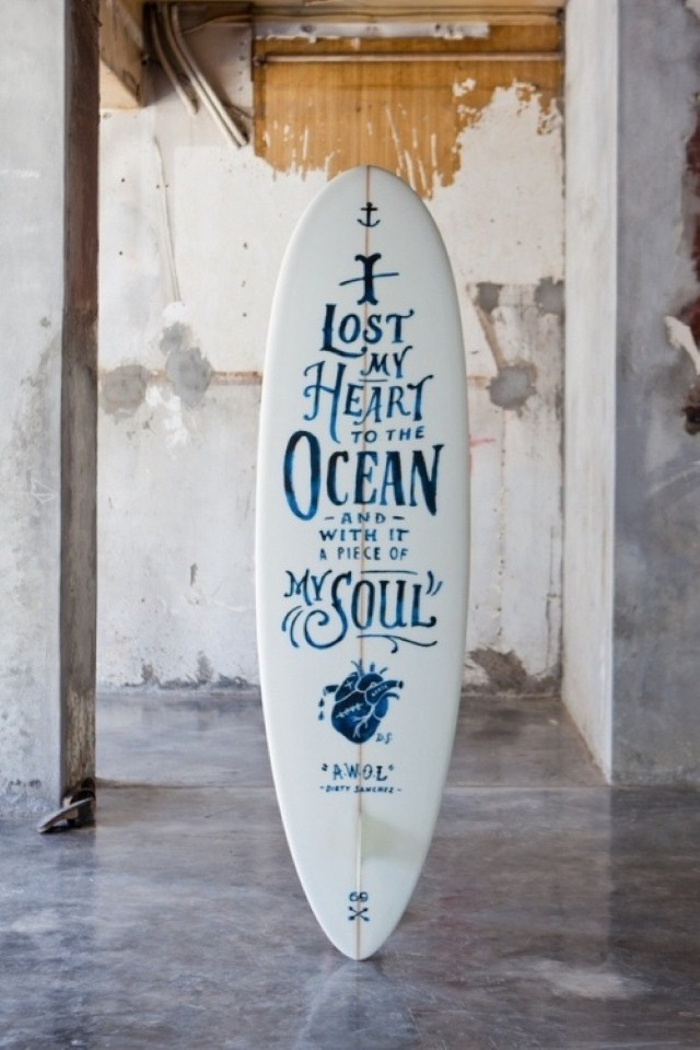 I lost my heart on the ocean quote