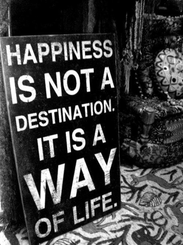 happiness is not a destination quote