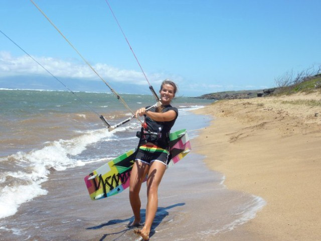 happy kiteboarder