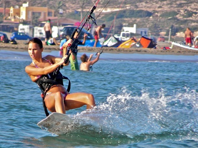 pretty kiteboarder