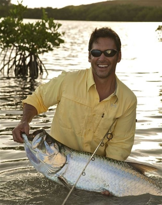 Key West Fish Tarpon Weight 40lbs Caught By Peter Miller Hoping for a much bigger one in June.decryptedKLR